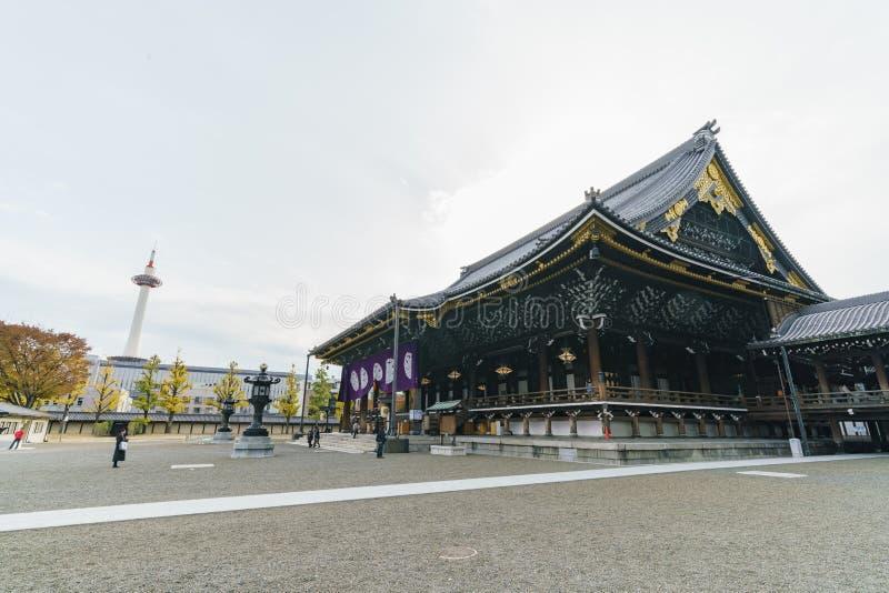Den härliga huvudbyggnaden av Higashi Hongan-ji arkivbild
