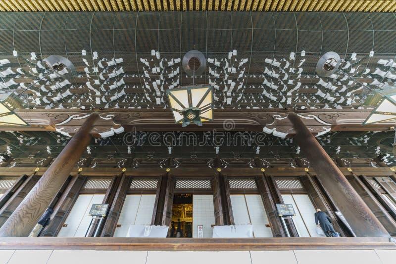 Den härliga huvudbyggnaden av Higashi Hongan-ji royaltyfri bild