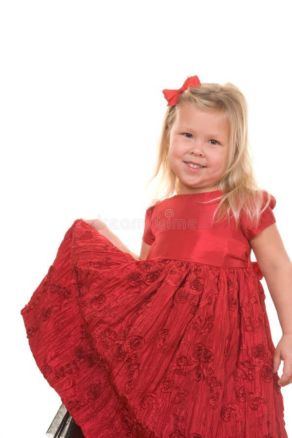 den härliga julen klädde flickan royaltyfria foton