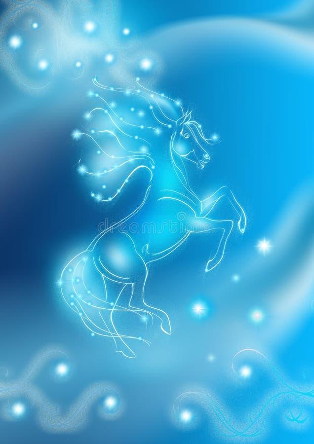 den härliga korthästen shinny stock illustrationer