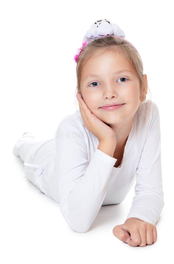 Den härliga liten flicka royaltyfri foto