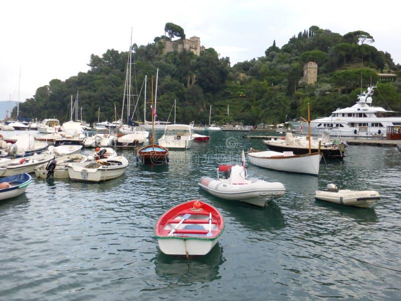 Den härliga Portofinoen, Italien royaltyfri bild