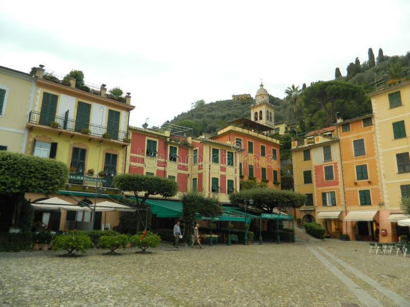 Den härliga Portofinoen, Italien royaltyfri fotografi