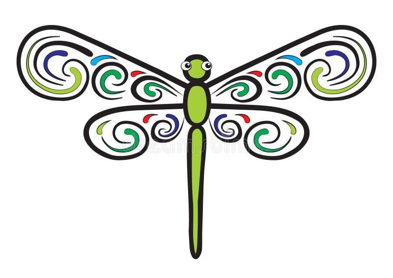 den härliga sländan har som wings stock illustrationer