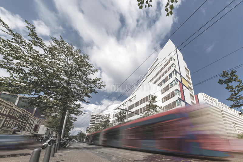 Den Haag öffentlicher Transport lizenzfreies stockbild