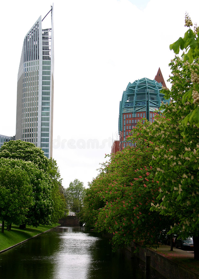 Den Haag buildings royalty free stock images