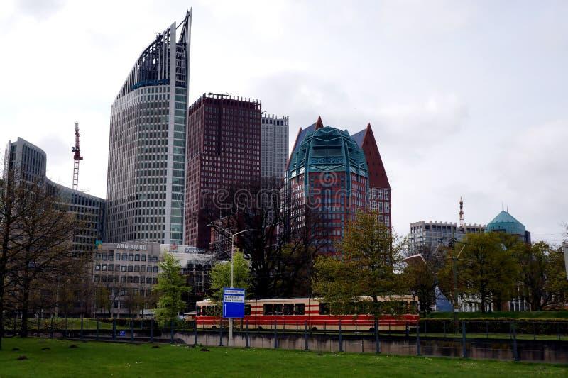 Den Haag. Modern buildings in Den Haag, Netherlands, Holland, in spring royalty free stock photo