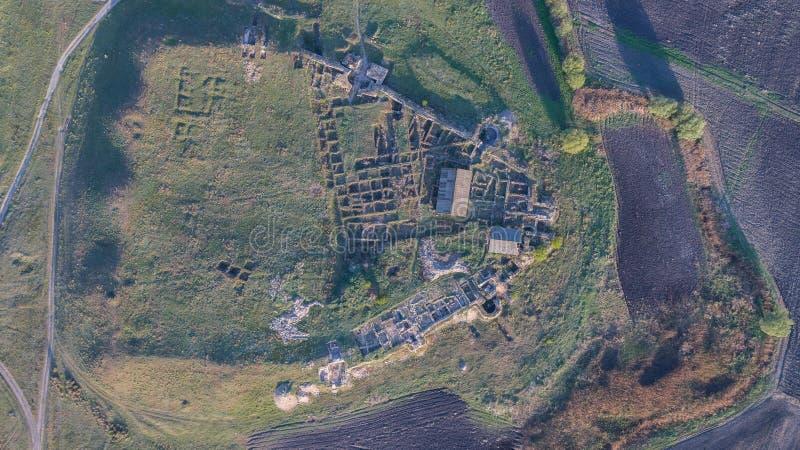 Den Halmyris fästningen fördärvar, Rumänien royaltyfri bild