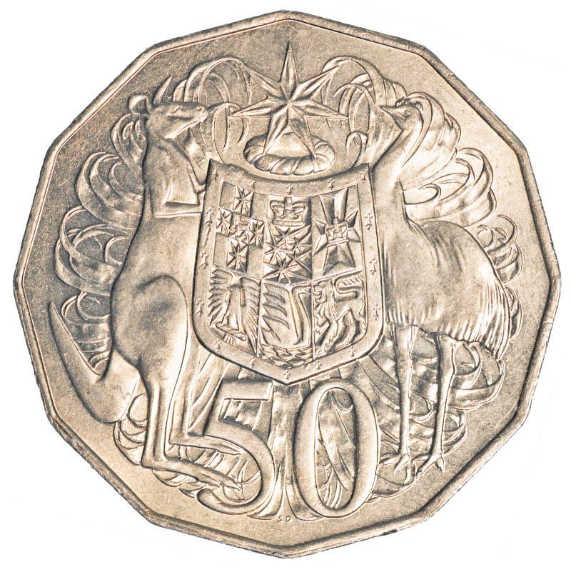 Den halva australiensiska dollaren myntar arkivfoto