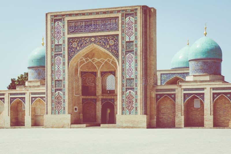 Den Hast imamen Square Hazrati Imam är en religiös mitt av Tashken arkivfoton