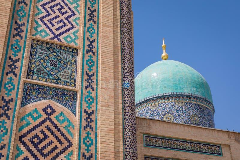 Den Hast imamen Square Hazrati Imam är en religiös mitt av Tashken royaltyfria foton