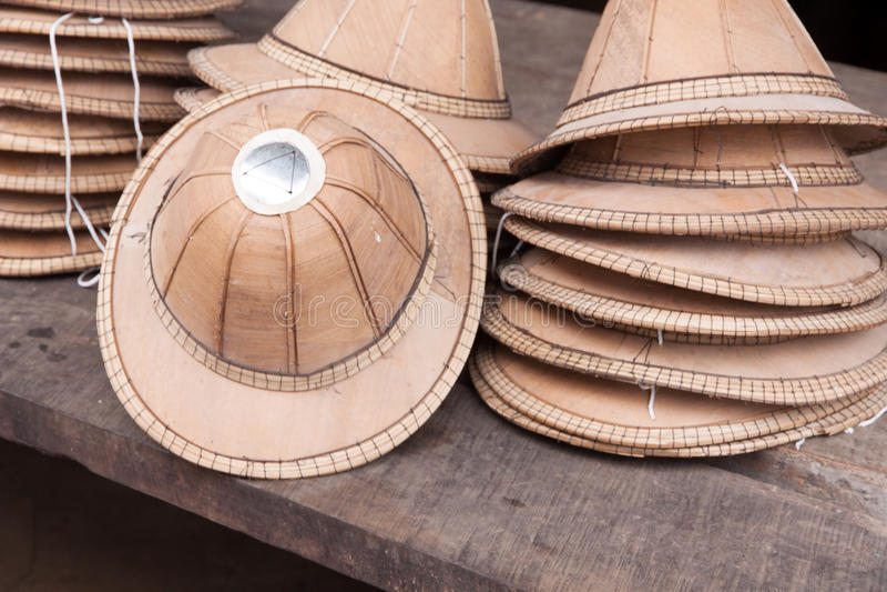 Den hatten delar som göras av asiatisk Palmyra, gömma i handflatan arkivfoto