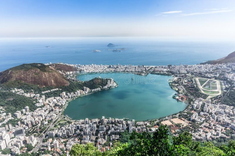 Den hela staden av Rio de Janeiro, Brasilien royaltyfri foto