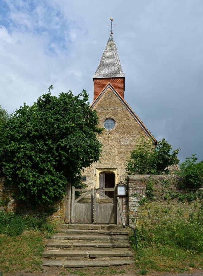 Den heliga griftkyrkan, Warminghurst, Sussex, UK arkivbild