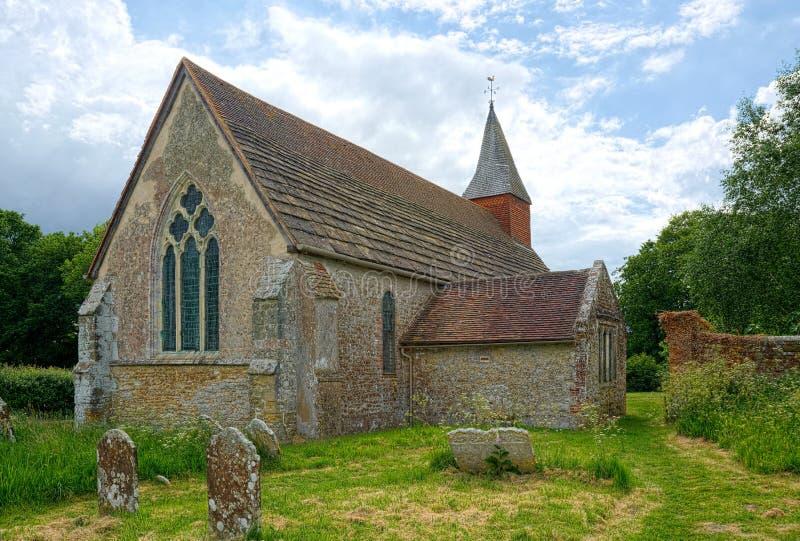Den heliga griftkyrkan, Warminghurst, Sussex, UK royaltyfria foton