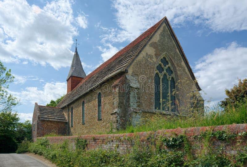 Den heliga griftkyrkan, Warminghurst, Sussex, UK arkivfoto