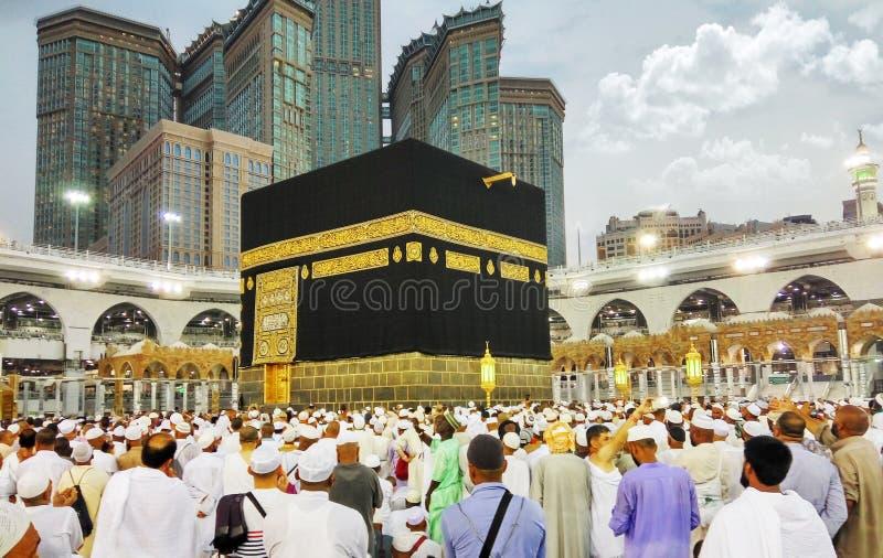 Den heliga Kaabaen, Makkah, Saudiarabien royaltyfria bilder