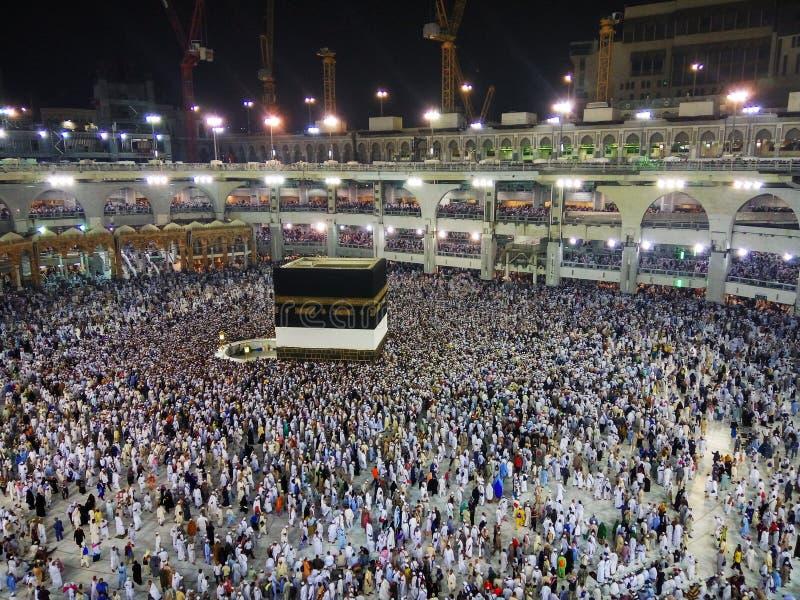 Den heliga Kaabaen, Makkah, Saudiarabien arkivfoton