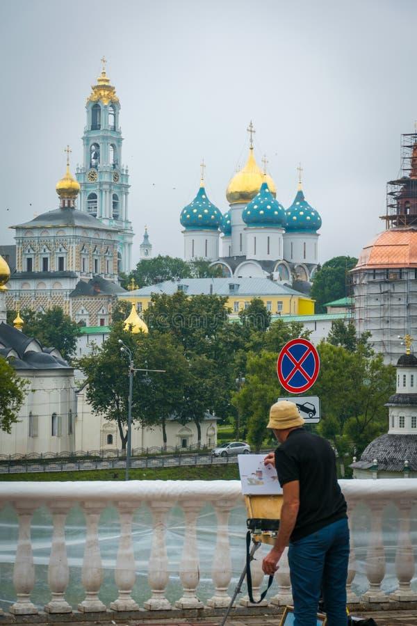 Den heliga Treenighet-Sten Sergius Lavra i Sergiyev Posad, Ryssland royaltyfri fotografi