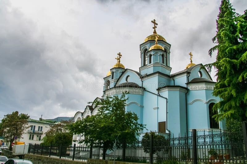 Den heliga Uspensky domkyrkan arkivfoto