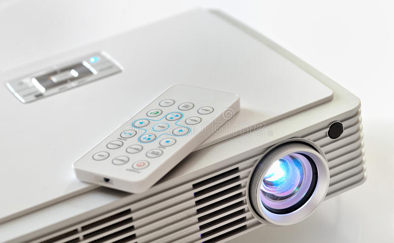 Den hem- bion LEDDE projektorn arkivbild