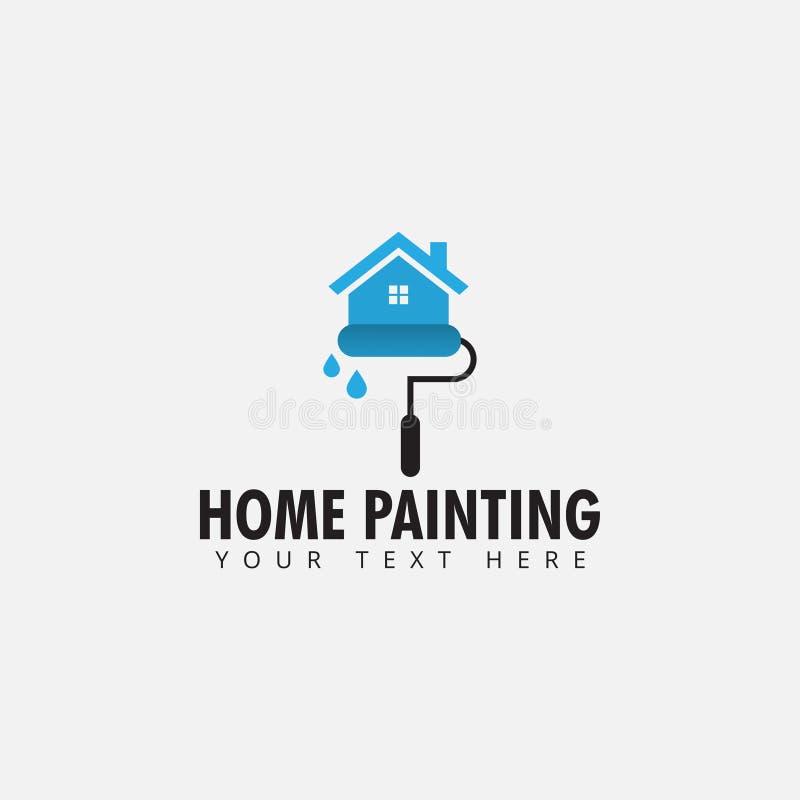 Den hem- måla vektorn för logodesignmallen isolerade royaltyfri illustrationer
