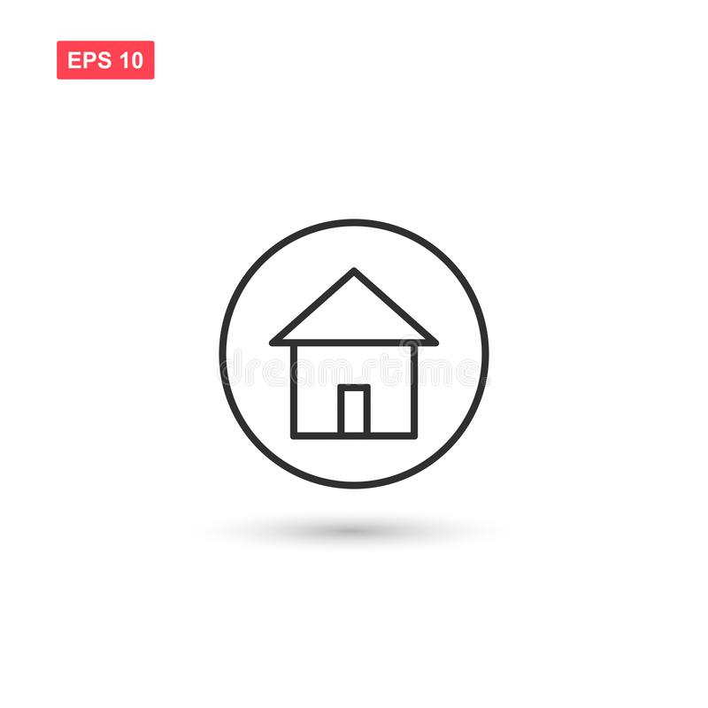 Den hem- plana linjen symbolsvektordesign isolerade vektor illustrationer