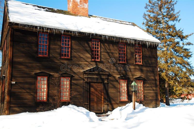 Den historiska Ashley House, Deerfield, MOR arkivfoton