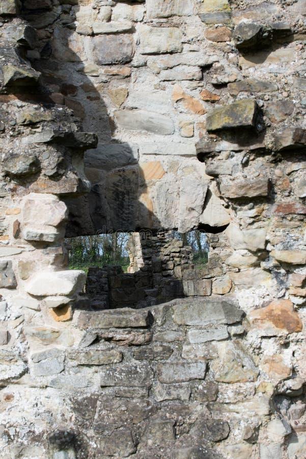 Den historiska Basingwerk abbotskloster fördärvar i Greenfield, nära Holywell norr Wales arkivbilder
