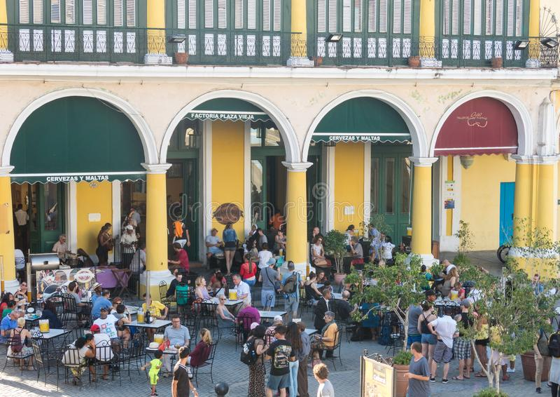 Den historiska gamla fyrkanten eller plazaen Vieja i den koloniala neighborhen royaltyfria foton