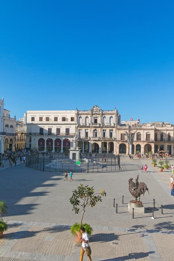 Den historiska gamla fyrkanten eller plazaen Vieja i den koloniala neighborhen arkivfoto