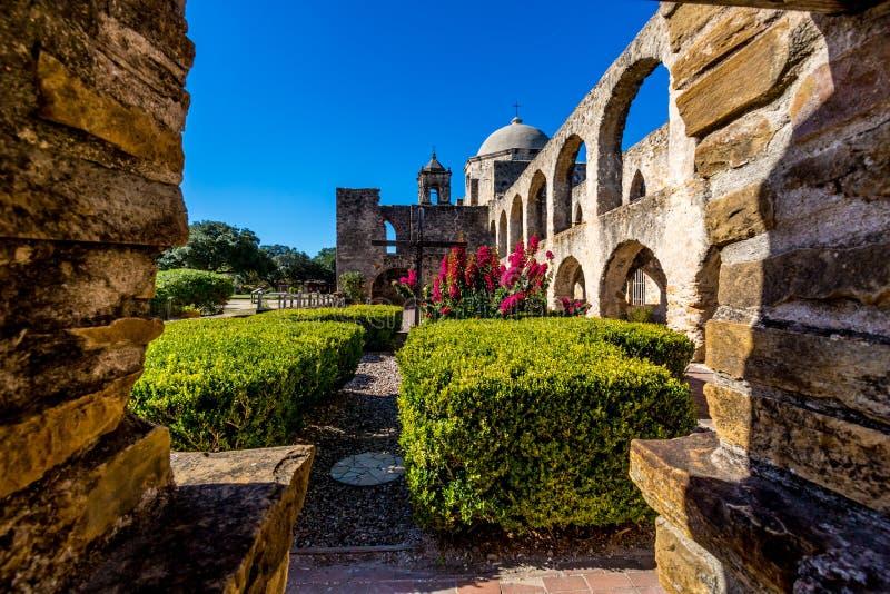 Den historiska gamla västra spanska beskickningen San Jose som grundas i 1720 arkivbild