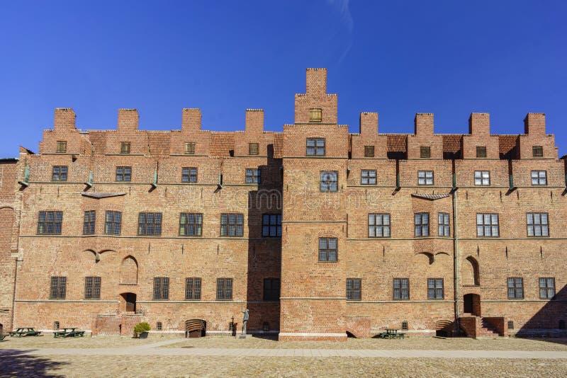 Den historiska Malmo slotten arkivfoton