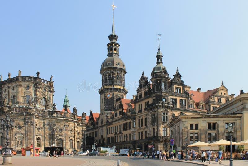 Den historiska mitten av den Dresden Tyskland royaltyfria foton