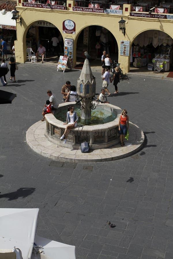 Den historiska mitten av staden Rhodes - Grekland royaltyfria foton