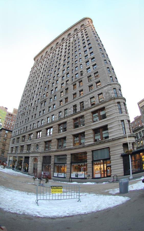 Den historiska plana järnbyggnaden i New York City, New York USA arkivfoton