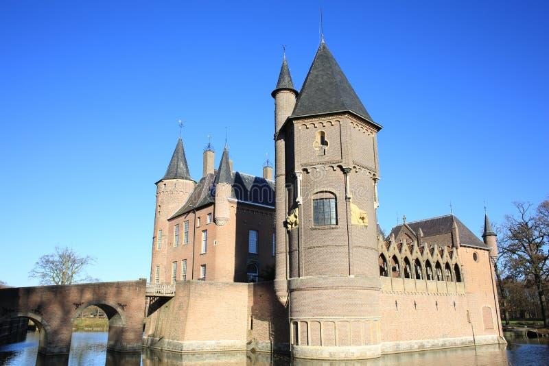 Den historiska slotten Heeswijk, Nederländerna royaltyfria bilder