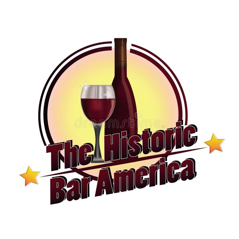 Den historiska stången Amerika royaltyfri illustrationer