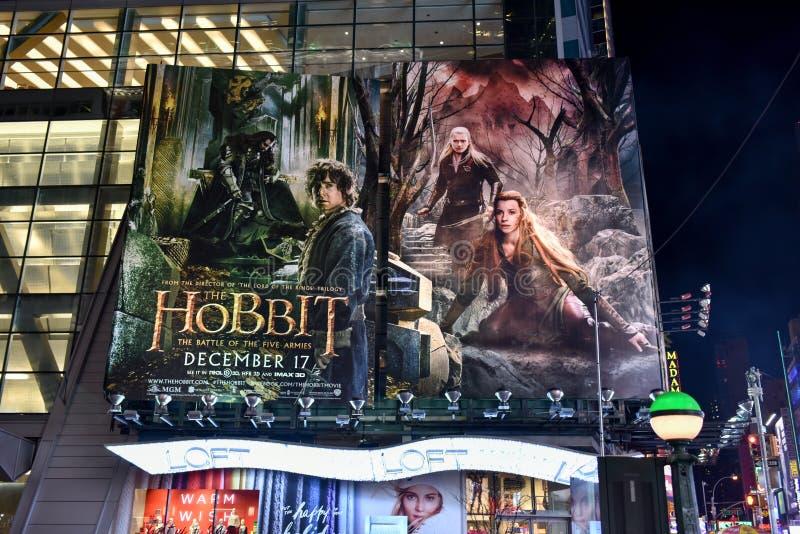 Den Hobbit filmaffischen arkivfoto