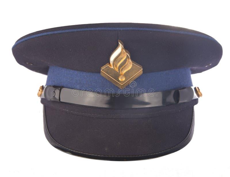 Den holländska polisen cap isolerat på vit royaltyfri foto