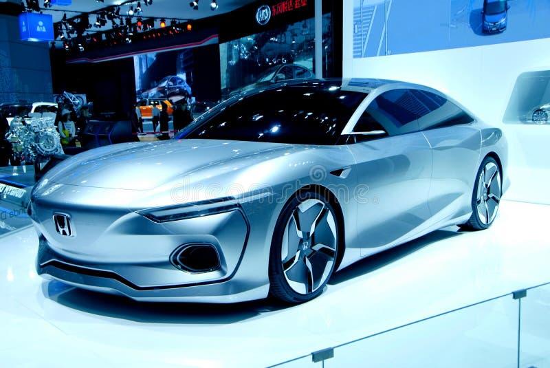Den Honda bilen, danar, rationaliserar, framtida, härligt arkivbild