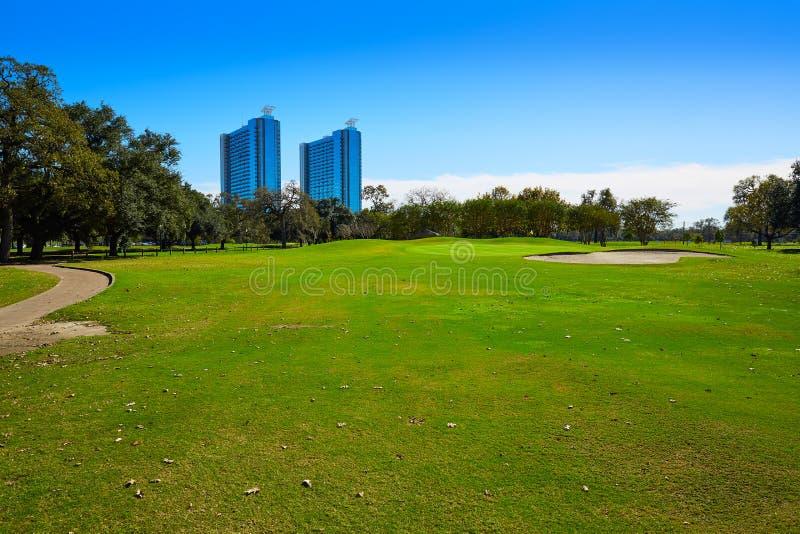 Den Houston golfbanan i Hermann parkerar royaltyfria bilder