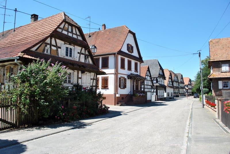 Den Hunspach halvan timrade hus royaltyfria foton