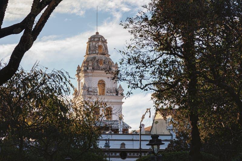 Den huvudkoloniala staden av Bolivia - Sydamerika arkivbild
