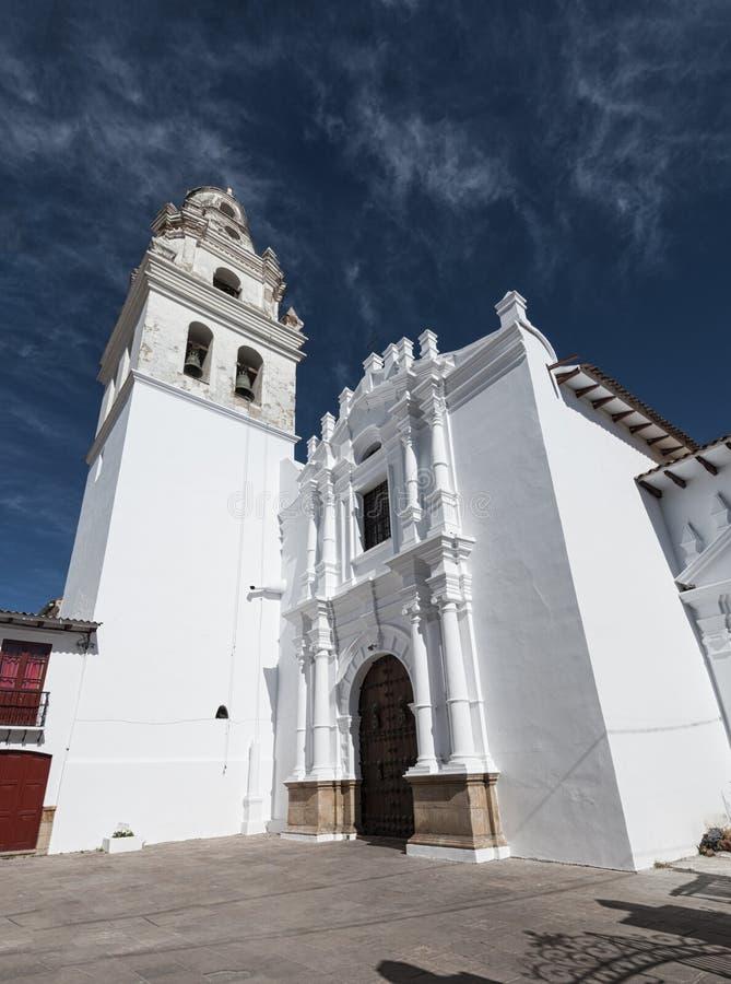 Den huvudkoloniala staden av Bolivia - Sydamerika royaltyfria bilder