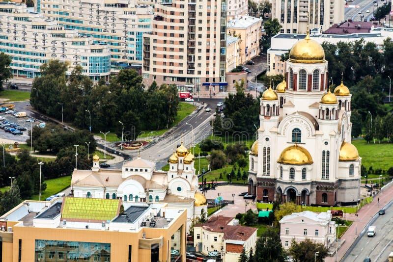 Den huvudsakliga kyrkan av Ekaterinburg arkivbild