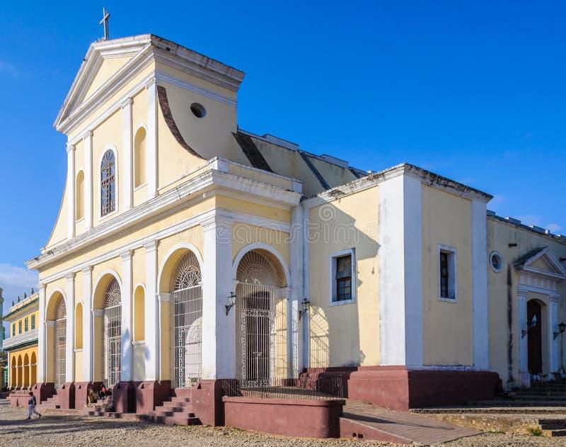 Den huvudsakliga kyrkan i Trinidad, Kuba royaltyfria foton