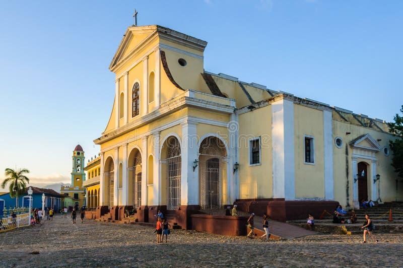 Den huvudsakliga kyrkan i Trinidad, Kuba arkivfoton