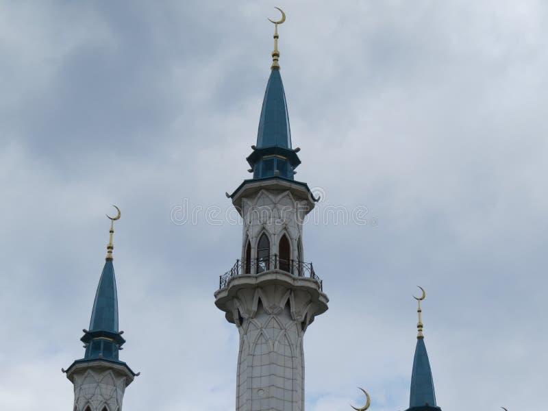 Den huvudsakliga moskén av Kazan Kul Sharif i Kreml arkivbilder