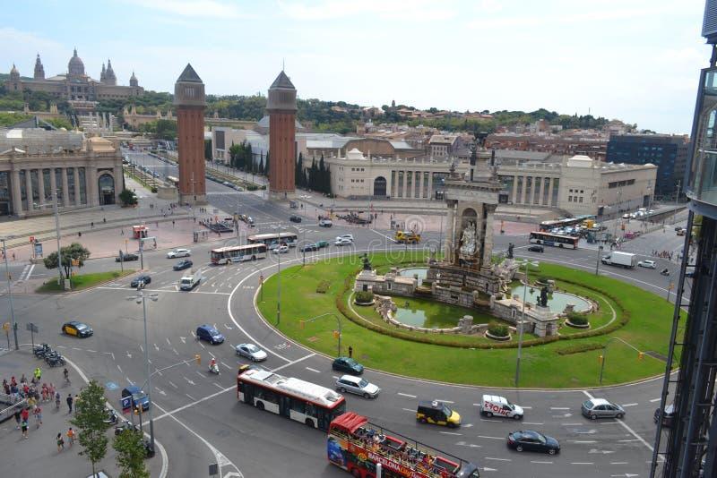 Den huvudsakliga sikten av stadshuset arkivbild